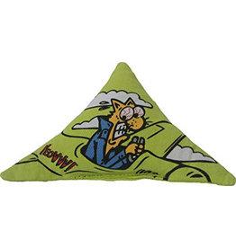 Yeowww! Yeowww! Cat Toys Purr Muda Triangle Green single