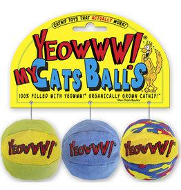 Yeowww! Yeowww! Cat Toys My Cats Balls 3 pk