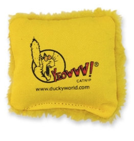 Yeowww! Yeowww! Cat Toys Jug of Pillows Yellow single