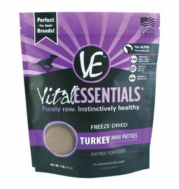 Vital Essentials Vital Essentials Dog Freeze Dried Turkey Mini Patties 1 lb