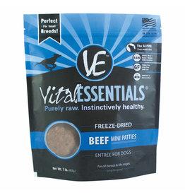 Vital Essentials Vital Essentials Dog Freeze Dried Beef Mini Patties 1 lb