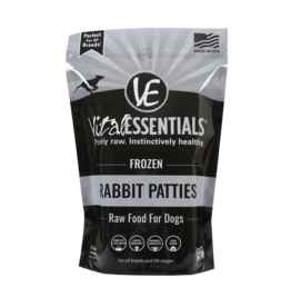 Vital Essentials Vital Essentials Frozen Dog Food 8 oz Rabbit Patties 6 lbs CASE (*Frozen Products for Local Delivery or In-Store Pickup Only. *)