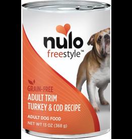 Nulo Nulo Freestyle GF Canned Dog Food CASE Turkey & Cod Adult Trim 13 oz