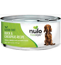 Nulo Nulo Freestyle GF Canned Dog Food CASE Duck & Chickpea Small Breed 6 oz
