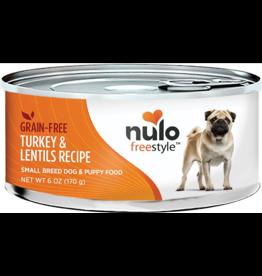 Nulo Nulo Freestyle GF Canned Dog Food CASE Turkey & Lentil Small Breed 6 oz