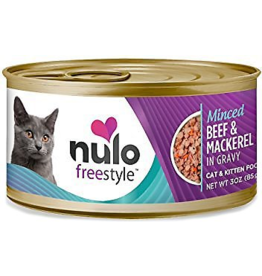 Nulo Nulo FreeStyle Canned Cat Food | Minced Beef & Mackerel 3 oz CASE