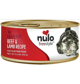 Nulo Nulo FreeStyle Canned Cat Food | Beef & Lamb 5.5 oz CASE