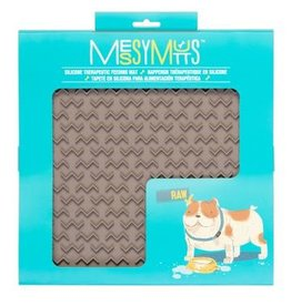 Messy Mutts Messy Mutts | Interactive Feeding Mat Grey Large