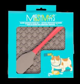 Messy Mutts Messy Mutts | Interactive Feeding Mat w/ Spatula Grey