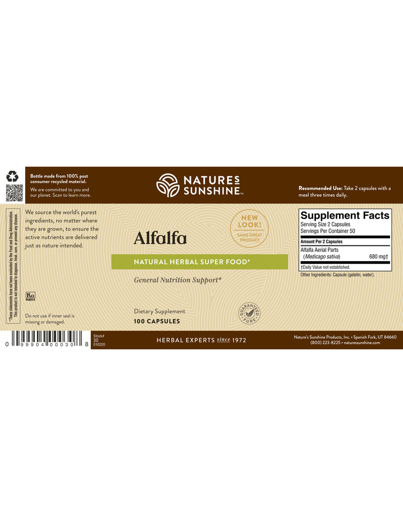 Nature's Sunshine Nature's Sunshine Supplements Alfalfa 100 capsules