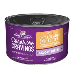 Stella & Chewy's Stella & Chewy's Carnivore Cravings Savory Shreds Canned Cat Food | Chicken & Beef 5.2 oz CASE