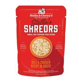 Stella & Chewy's Stella & Chewy's Shredrs Dog Pouches | Beef & Chicken 2.8 oz CASE