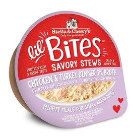 Stella & Chewy's Stella & Chewy's Lil' Bites Dog Stew | Chicken & Turkey Dinner in Broth 2.7 oz single