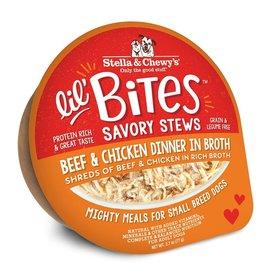 Stella & Chewy's Stella & Chewy's Lil' Bites Dog Stew | Beef & Chicken Dinner in Broth 2.7 oz CASE