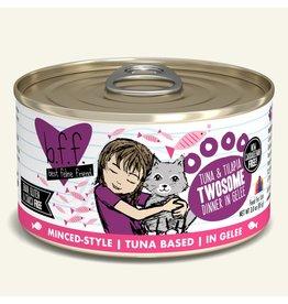 Weruva Best Feline Friend Canned Cat Food Tuna & Tilapia Twosome 3 oz single