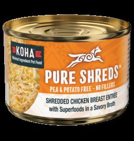 Koha Koha Pure Shreds Canned Dog Food | Chicken 5.5 oz single