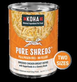Koha Koha Pure Shreds Canned Dog Food | Chicken 12.5 oz CASE