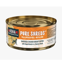 Koha Koha Pure Shreds Canned Cat Food   Chicken 5.5 CASE