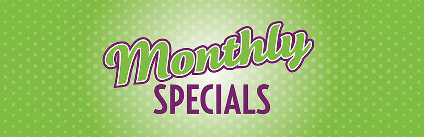 natural pet food, treats, toys, and supplies store monthly dog and cat specials