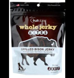 Fruitables Fruitables Dog Jerky Treats Bites Grilled Bison 4 oz