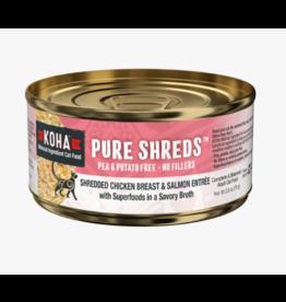 Koha Koha Pure Shreds Canned Cat Food   Chicken & Salmon 2.8 oz single
