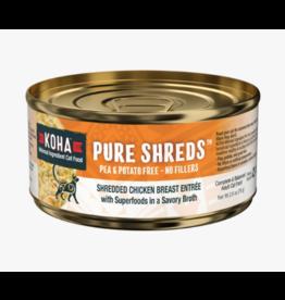 Koha Koha Pure Shreds Canned Cat Food   Chicken 2.8 oz CASE