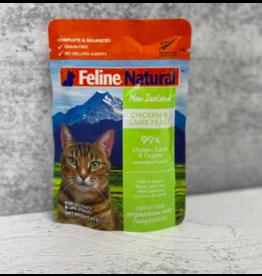 Feline Natural Feline Natural Cat Food Pouches | Chicken & Lamb 3 oz CASE