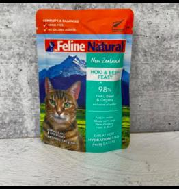 Feline Natural Feline Natural Cat Food Pouches | Hoki & Beef 3 oz CASE