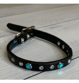 "Coastal Coastal Pet 3/4"" Collar | Blue Jewel 18"""