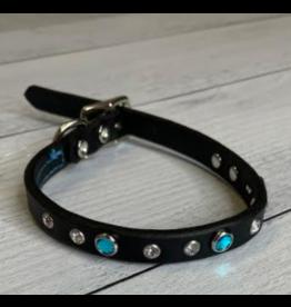 "Coastal Coastal Pet 1"" Collar | Blue Jewel 24"""