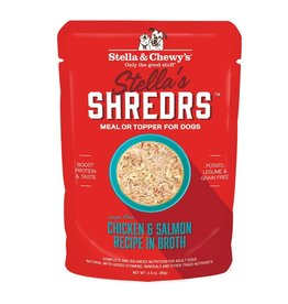 Stella & Chewy's Stella & Chewy's Shredrs Dog Pouches | Chicken & Salmon 2.8 oz CASE