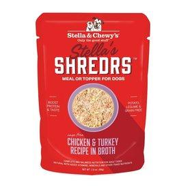 Stella & Chewy's Stella & Chewy's Shredrs Dog Pouches | Chicken & Turkey 2.8 oz CASE