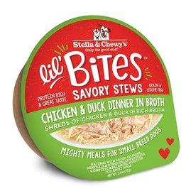 Stella & Chewy's Stella & Chewy's Lil' Bites Dog Stew | Chicken & Duck Dinner in Broth 2.7 oz CASE