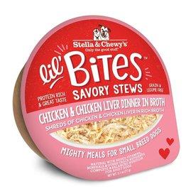 Stella & Chewy's Stella & Chewy's Lil' Bites Dog Stew | Chicken & Chicken Liver Dinner in Broth 2.7 oz single