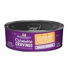 Stella & Chewy's Stella & Chewy's Carnivore Cravings Savory Shreds Canned Cat Food | Chicken & Beef 2.8 oz CASE