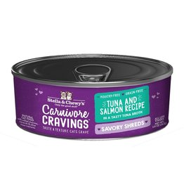 Stella & Chewy's Stella & Chewy's Carnivore Cravings Savory Shreds Canned Cat Food | Tuna & Salmon 2.8 oz CASE