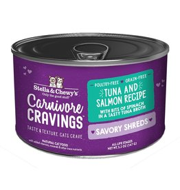 Stella & Chewy's Stella & Chewy's Carnivore Cravings Savory Shreds Canned Cat Food | Tuna & Salmon 5.2 oz CASE