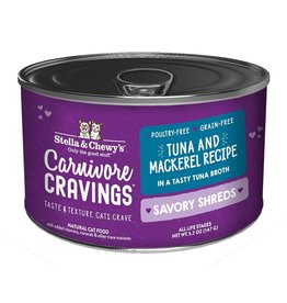 Stella & Chewy's Stella & Chewy's Carnivore Cravings Savory Shreds Canned Cat Food | Tuna & Mackerel 5.2 oz CASE