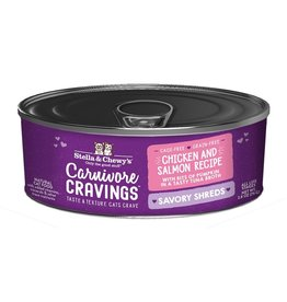 Stella & Chewy's Stella & Chewy's Carnivore Cravings Savory Shreds Canned Cat Food | Chicken & Salmon 2.8 oz CASE