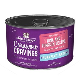 Stella & Chewy's Stella & Chewy's Carnivore Cravings Canned Cat Food Purrfect Pate | Tuna & Pumpkin 5.2 oz CASE