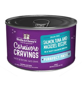 Stella & Chewy's Stella & Chewy's Carnivore Cravings Canned Cat Food Purrfect Pate | Salmon, Tuna, & Mackerel 5.2 oz CASE