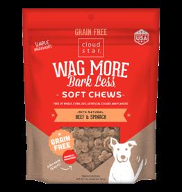 Cloud Star Cloud Star Wag More Bark Less GF Soft Chews Beef & Spinach 6 oz