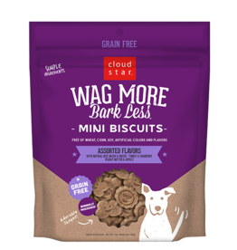 Cloud Star Cloud Star Wag More Bark Less GF Mini Biscuits Assorted Flavors 7 oz
