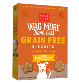 Cloud Star Cloud Star Wag More Bark Less GF Biscuits Peanut Butter & Apples 14 oz