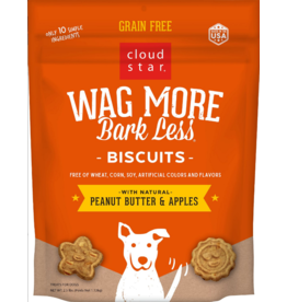 Cloud Star Cloud Star Wag More Bark Less GF Biscuits Peanut Butter & Apples 2.5 lbs