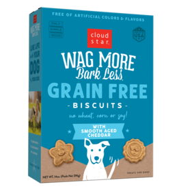 Cloud Star Cloud Star Wag More Bark Less GF Biscuits Aged Cheddar 14 oz