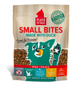 Plato Plato Dog Jerky Treats Small Bites Duck 10.5 oz
