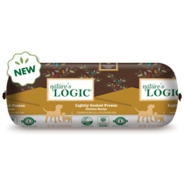 Nature's Logic Nature's Logic Frozen Dog & Cat Food Lightly Cooked Chicken 1.5 lb Chub CASE (*Frozen Products for Local Delivery or In-Store Pickup Only. *)