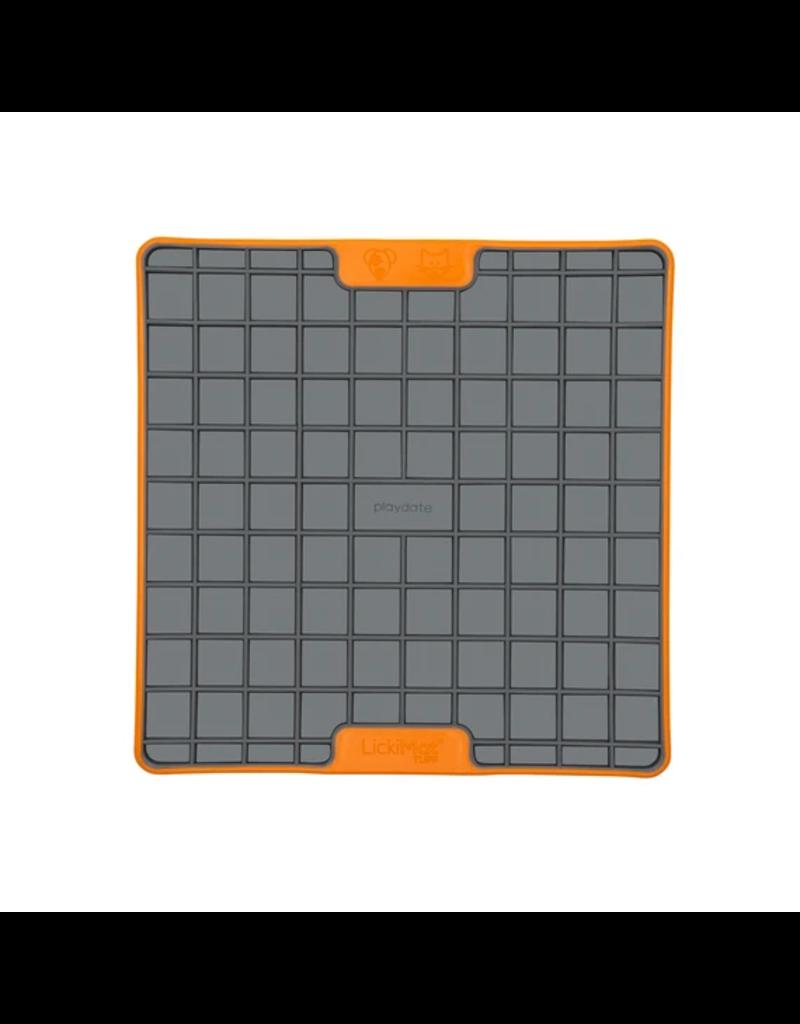 LickiMat Lickimat Tuff Series Interactive Feeder | Playdate Orange