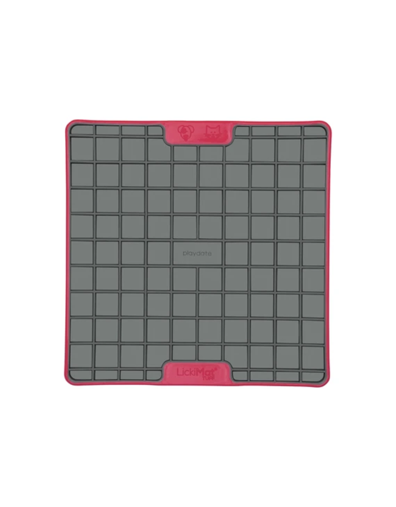 LickiMat Lickimat Tuff Series Interactive Feeder | Playdate Red